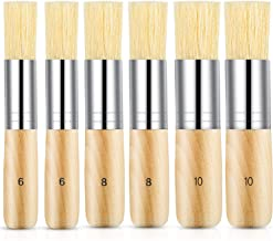 Outus Wooden Stencil Brush Natural Brushes Bristle Art Painting Brushes for Oil Painting Watercolor Acrylic Painting Stenc...