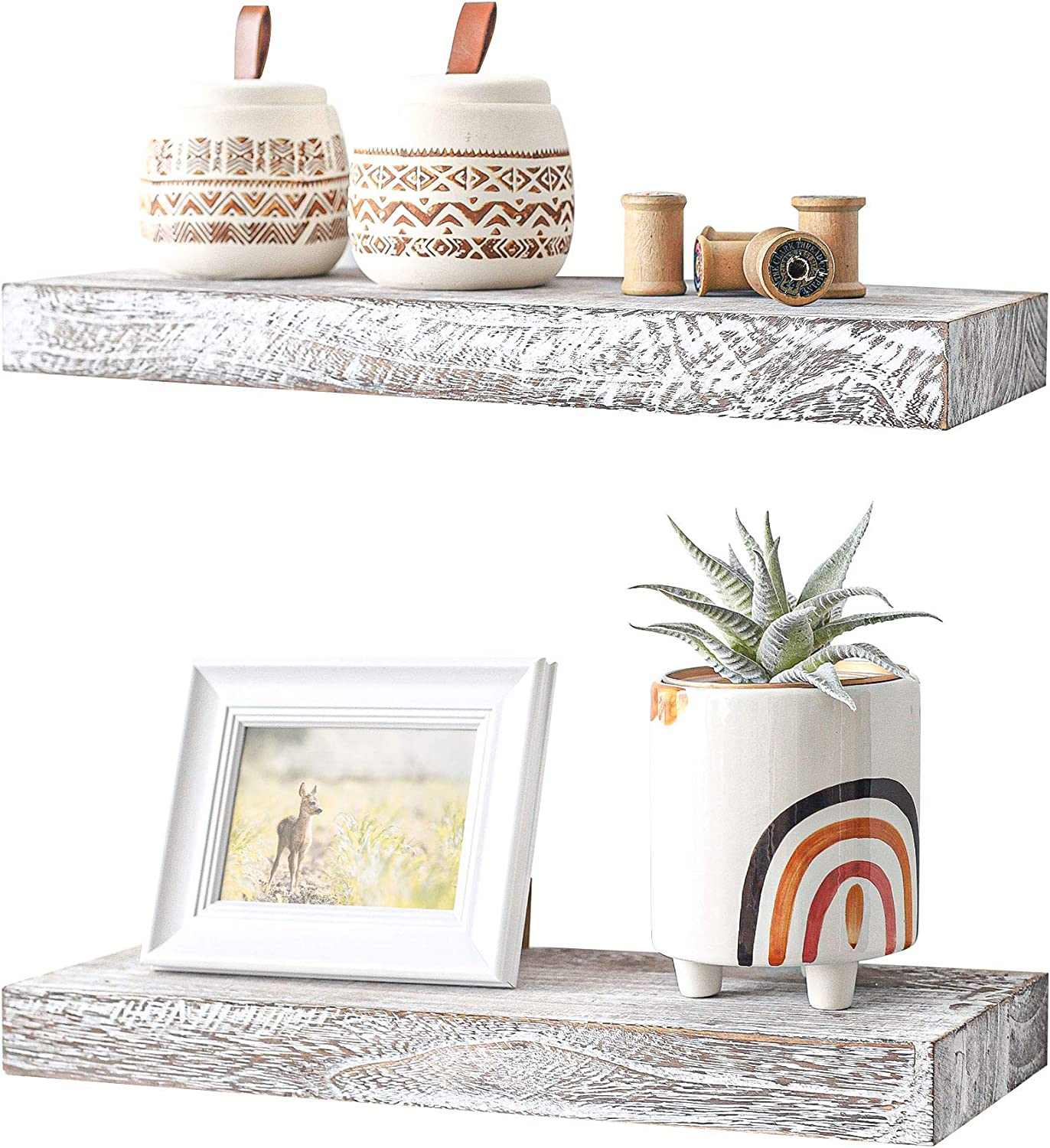 Challenge the lowest price of Japan Labcosi Farmhouse overseas Floating Shelves for Shel Rustic Wall 17 Inch