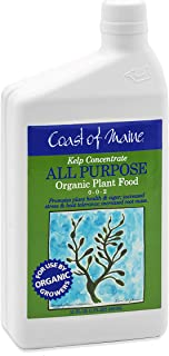 Coast of Maine - Kelp Concentrate, All Purpose Organic Plant Food, 0-0-2 NPK (1 FL QT)