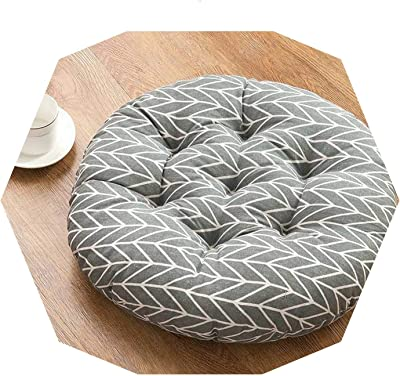 Amazon.com: Estilo japonés lino cojín para yoga Tatami cojín ...