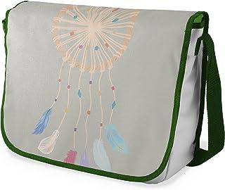 Bonamaison Digitally Printed Messenger School Bag with Khaki Strap for Students, Cross Body Bag, Courier Bag, Shoulder Bag...