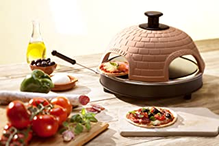 "Pizzarette – ""The World's Funnest Pizza Oven"" – 4 Person Model - Countertop Pizza Oven – Europe's Best-Selling Tabletop Mini Pizza Oven Now Available In The USA – Dual Heating Elements"