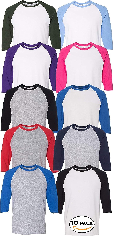Multipack Gildan 5700 Men Bundle At the price of surprise Raglan trend rank You T-Shirts - Make Bulk