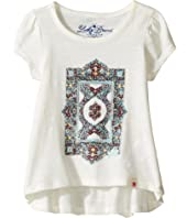 Lucky Brand Kids - Short Sleeve Tee w/ Princess Seams and Screen Print (Toddler)