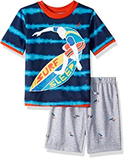 Nautica Boys' Big 2 Piece Jersey Short Pajama Set