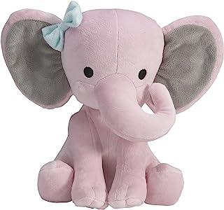 Twinkle Toes Plush Elephant 25cm Hazel - Pink, Grey, Animals