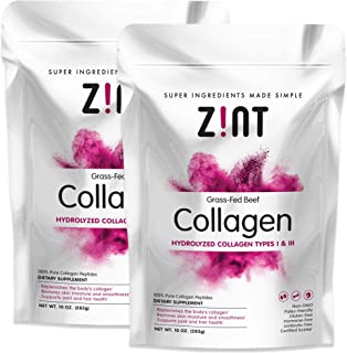Zint Collagen Powder peptides for Women | Anti Aging Supplement for Women, Keto Friendly, 10 oz Each (2 Pack 20oz Total)