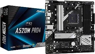 ASRock AMD Ryzen 3000/4000シリーズ(Soket AM4)対応 A520チップセット搭載 Micro ATX マザーボード 【国内正規代理店品】A520M Pro4