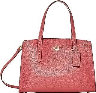 حقيبة حمل للنساء من كوتش، لون اسود (ذهبي/ زهري غامق) - 29529 GDDPK