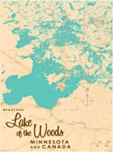 Lake of The Woods Minnesota Vintage-Style Map Art Print Poster by Lakebound (9