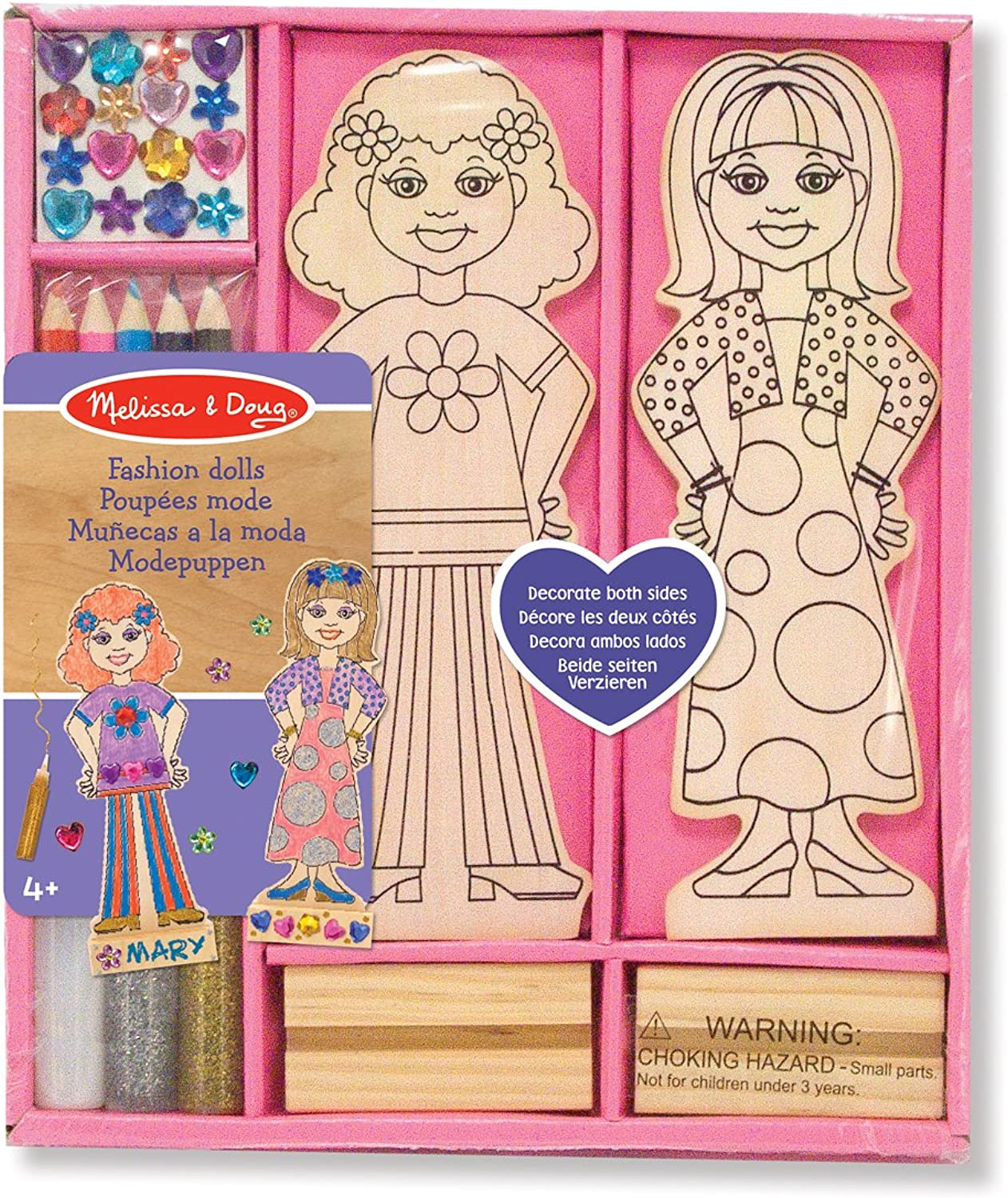 Melissa & Doug Decorate-Your-Own  Wooden Fashion Dolls