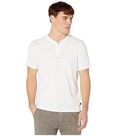 Lucky Brand Linen Henley Tee (Bright White) Men