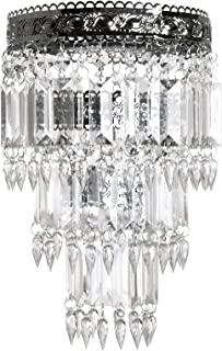 Tadpoles Faux-Crystal & Chrome Queen's Crown Shade, Small, Chandelier Style