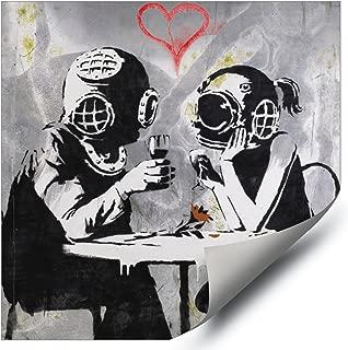 Banksy Street Graffiti Think Tank Late Lovers HD Vinyl Wall Art Poster Decal Sticker