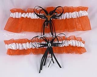 University Texas Longhorns Orange, White & Black Team Garter Set