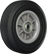 Shepherd Hardware 9600 8-Inch Hand Truck Replacement Wheel, Solid Rubber, 2-1/2-Inch Ribbed Tread, 5/8-Inch Bore Offset Axle