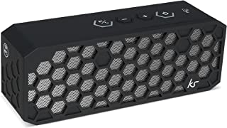 Kitsound Hive 2 Plus Bluetooth Wireless Speaker with Siri and Google Now Enabled NFC One Touch Pairing - Black