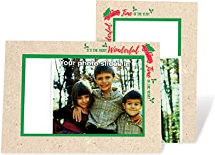 product image for Red Truck Christmas Tree Card - 4x6 Photo Insert Note Cards - 24 Pack by Plymouth Cards