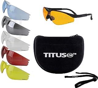 Titus Professional Multi-Lens Range Set, Eye Protection & Vision Enhancing Safety Glasses