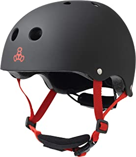 Triple Eight LIL 8 Dual Certified Sweatsaver Kids Skateboard and Bike Helmet with Padded Chin Buckle