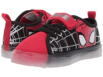 Favorite Characters Spidermantm Canvas Lighted SPS384 (Toddler/Little Kid) (Red) Boys Shoes