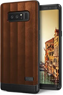 Ringke Flex S Compatible with Galaxy Note 8 Case Modern Elite Textured PU Leather Style, Flexible TPU, Shock Protection, Durable Professional Stylish Case for Note8 - Brown