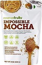 Vegan Mocha Latte Superfood - Clean Label Organic Ingredients, Energy Booster, Antioxidant, PreBiotic Fibers, Gluten Free,...