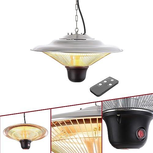 Arebos Radiateur Plafond Chauffage Infrarouge | 1500W | avec Télécommande | Chauffage très Rapide