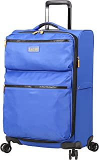 Lucas Ultra Lightweight Midsize Softside 24 inch Expandable Luggage With Spinner Wheels (24in, Royal Blue)