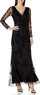 Women's Beaded Swirl Long Dress