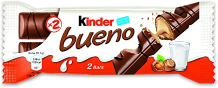 Ferrero Kinder Bueno Wafer Cookies, 1.5 Ounce (43 g) (Pack of 30