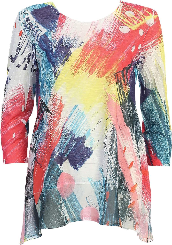 Jess Quantity limited Jane Women's New York Many popular brands Chiffon Top Tunic Hem with