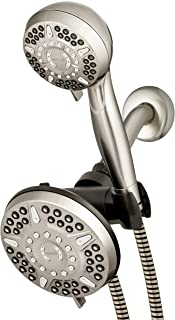 Waterpik 12-Mode 2-in-1 Dual Shower Head System with 5-Foot Hose and PowerPulse Therapeutic Massage, Brushed Nickel