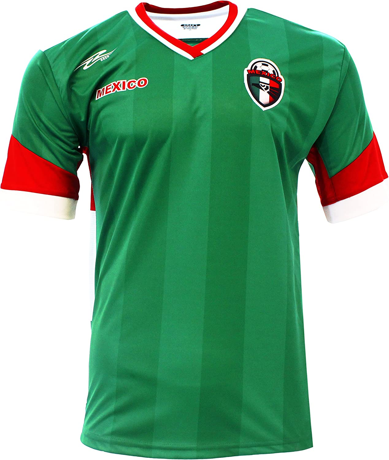Mexico New Arza Soccer Jersey Green Neck Sleev Short White Max 72% 2021 autumn and winter new OFF V Red