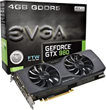 EVGA GeForce GTX 980 4GB FTW GAMING ACX 2.0, 26% Cooler and 36% Quieter Cooling Graphics Card 04G-P4-2986-KR (Renewed)