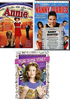 Book of Awesomeness! Enchanting Girl Movie Pack Annie Musical / Dear Dumb Diary & RNThe Nanny Diaries 3 DVD Family Triple Feature Fun Time!