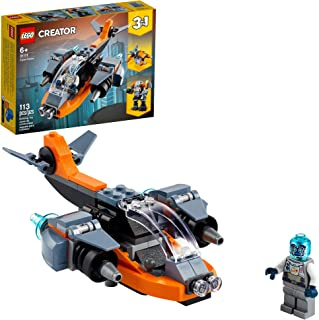 LEGO Creator 3in1 Cyber Drone 31111 3in1 Toy Building Kit...