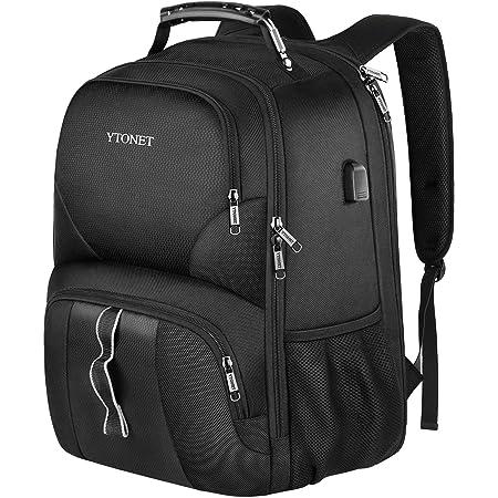 Color : Black Gray, Size : L LCHAO Travel Backpack Large-Capacity Backpack Male Leisure Computer Bag Shoulder Bag Schoolbag Couple