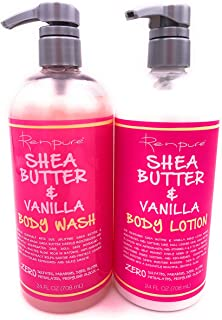 Shea Butter & Vanilla Body Wash and Lotion, 24 Oz Each - Set of 2