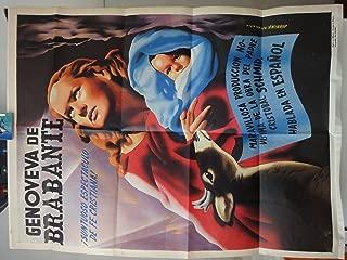 Original Mexican Movie Poster Genoveva Genoveffa Di Brabante Maria Jose Alfonso Juanino Renau 1964