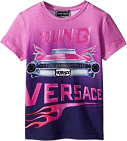 Versace Kids - Short Sleeve Logo Car Graphic T-Shirt (Toddler/Little Kids)