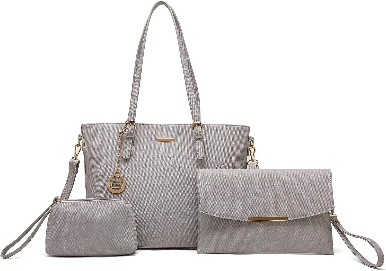 Enimoe Women Handbag Tote Shoulder Bags Satchel Handbag 3 Piece