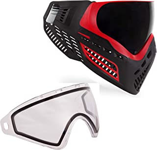 Virtue VIO Ascend Paintball Goggle and Virtue VIO Replacement Lens Bundle - Red Smoke with Thermal Clear Lens