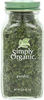 Simply Organic Parsley Flakes Cut & Sifted Certified Organic, 0.26 oz Container