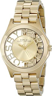 Marc by Marc Jacobs Women's MBM3292 Skeleton Gold-Tone Stainless Steel Bracelet Watch