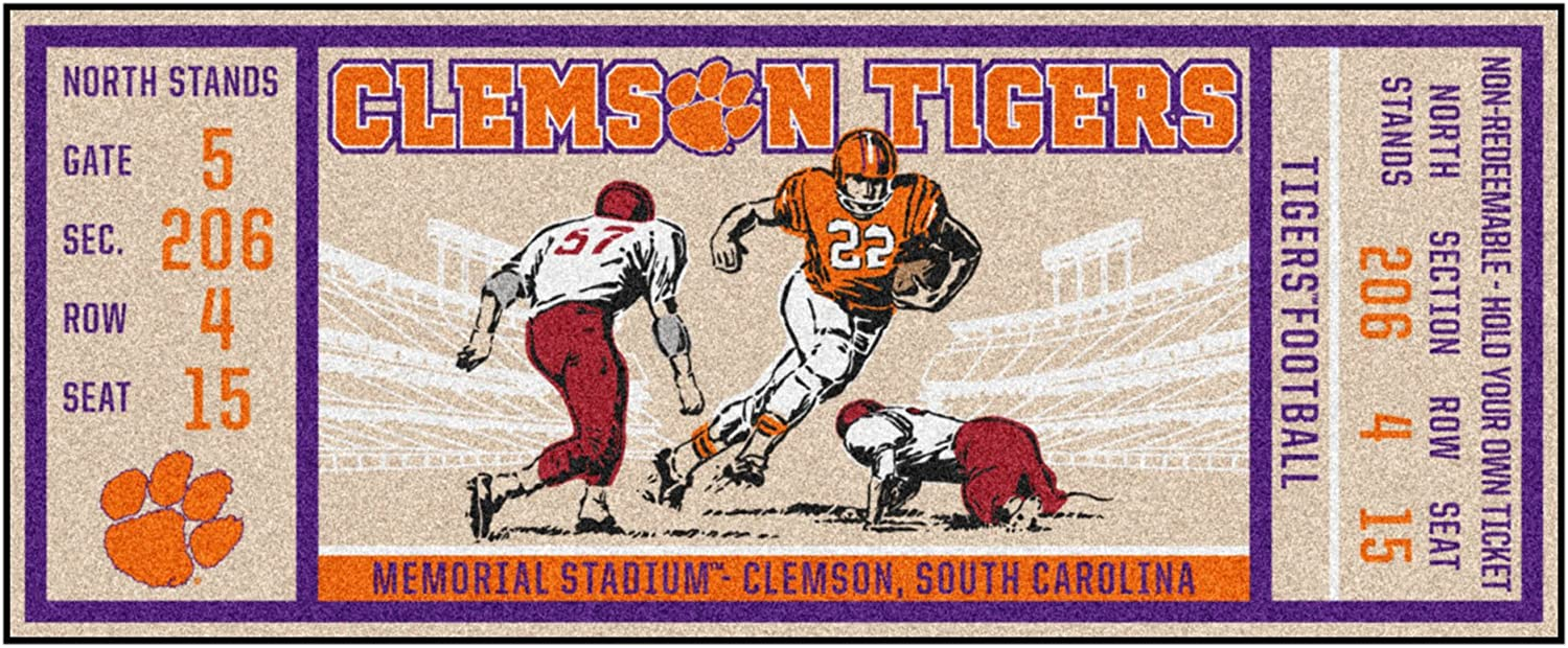 FANMATS Superior NCAA Clemson Tigers Team Universityticket New product!! Color Runner