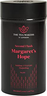 The Tea Makers of London Darjeeling Margarets Hope FTGFOP1 Second Flush schwarzer Tee vom Teekontor, 1er Pack 1 x 125 g
