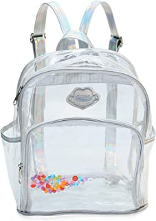 Girls' Transparent Laser Sequins Backpack See Through Plastic Travel Casual Rucksack
