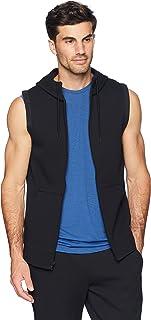 Peak Velocity Men's Metro Fleece Full-Zip Sleeveless Athletic-Fit Hoodie