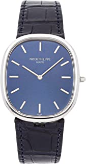 Patek Philippe Golden Ellipse Mechanical (Automatic) Blue Dial Mens Watch 5738P-001 (Certified Pre-Owned)